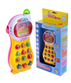 Умный телефон (желто-розовый) 7028