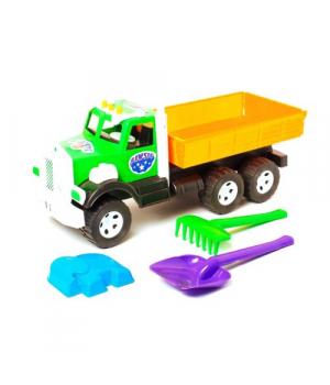 """Игрушка машинка для песка """"Фарго Самосвал"""" с песочным набором (зеленая) 009/1"""