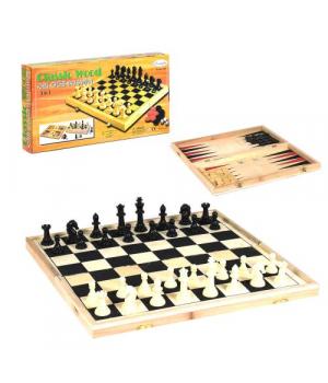 Шахматы деревянные 3 в 1 C36816
