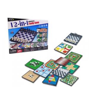 Набор настольных игр 12 в 1 S4406