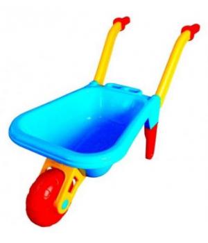 Пластиковая детская тачка для песочницы с ручками, (синяя), 1059