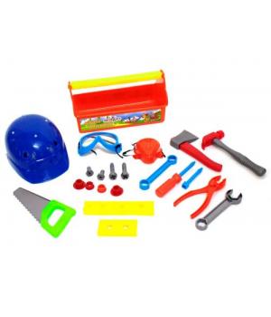 """Детский набор строительных инструментов """"Юный плотник"""" (оранжевый) KW-32-005"""