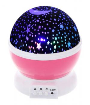 Детский ночник проектор звездное небо, вращающийся, Star