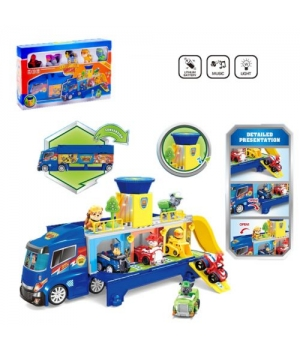 """Набор игровой """"Щенячий патруль"""" грузовик с фигурками (свет, звук) G2037"""
