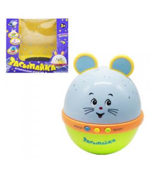 """Детская игрушка ночник с проектором- неваляшка """"Засыпайка. Мышка"""" 6339"""