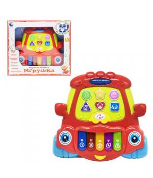"""Игрушка пианино для малышей """"Е-нотка: машинка"""" (красная) 132"""