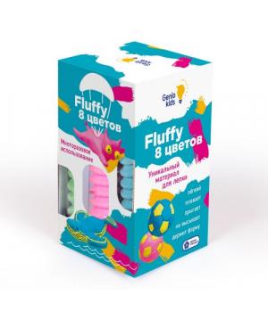 """Воздушный пластилин для детской лепки """"Fluffy"""", 8 цветов TA1503"""