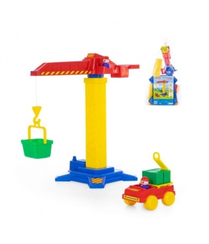 Игрушка башенный кран №1 + машинка 58195