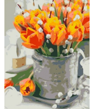 "Картина по номерам ""Жёлтые тюльпаны"" ★★☆ N00013178 35х45 см"
