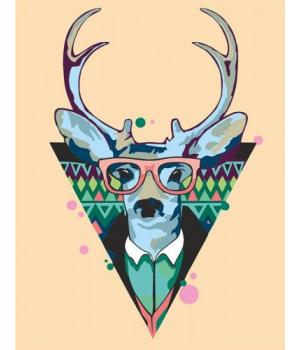 "Картина по номерам ""Cool deer"" ★★☆ N0001364 35х45 см"