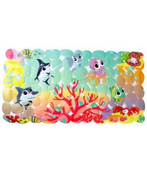 Детский коврик в ванную Морские жители LN-8666