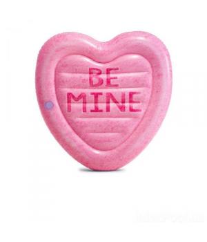 Матрас для плавания, Карамельное сердце, розовый, 58789, Intex