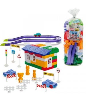 Конструктор Автотрек пластиковый, №6, 250 деталей, 1-055