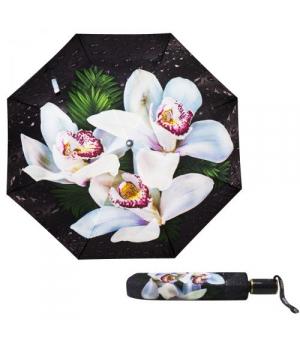 """Детский зонтик складной """"Цветы - белые орхидеи"""""""