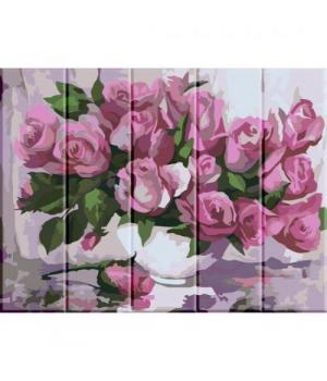 "Картина по номерам на дереве ""Розы"" ASW001 40х30 см"
