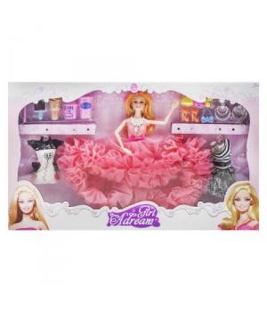"""Кукла с комплектом одежды """"Girl Adream"""", коралловый 654A"""