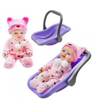 """Кукла """"Детский Пупс с переноской"""", фиолетовый PU12"""
