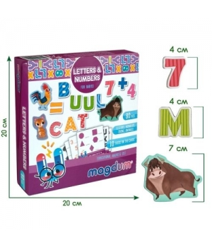 Магнитные фигурки для детей (Буквы и цифры) английский алфавит