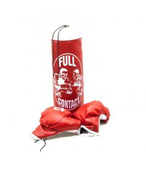 Детская боксерская груша с перчатками красный, от 3 лет