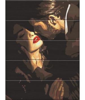 """Картина по номерам на дереве """"Перед поцелуем"""" ASW123 40х30 см"""