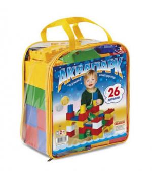 Детский конструктор в рюкзаке Аквапарк - 26 деталей, Юника