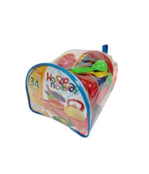 Набор игрушечной посуды (34 предмета) 1047