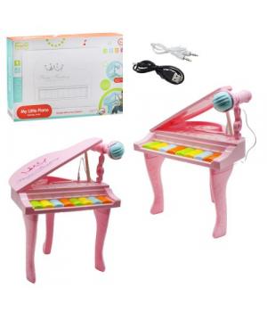Игрушечное пианино на ножках, розовый HY675-E