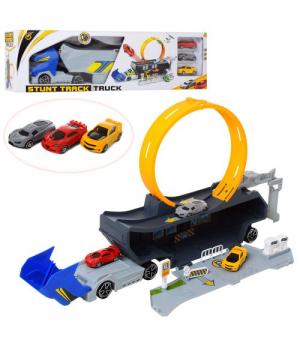 Детский игровой трейлер с петлей и 3-машинками