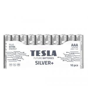 [AAA SILVER+10M] Первинні елементи та первинні батареї, циліндричної форми, лужні TESLA BATTERIES AAA SILVER+ 10 MULTIPACK ( LR03 / SHRINK 10 шт.)