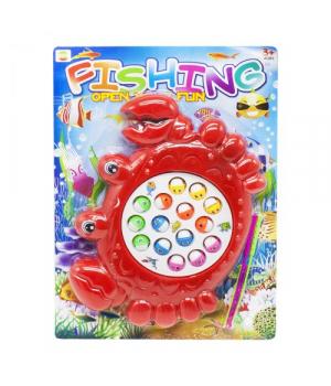 Игрушка рыбалка с крючками, красный, 8865А