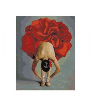 """Алмазная мозаика """"Балерина-цветок"""" FA13209 40х50 см"""