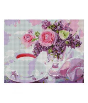 "Алмазная мозаика ""Букетик и чашечка чая"" FA40793 40х50 см"