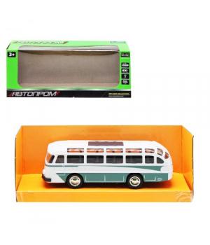 Игрушка автобус ЛАЗ, 1:32, металлический, свет,звук, зеленый