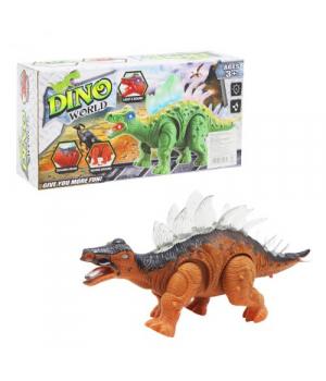 Игрушка динозавр на батарейках, свет, звук, движение