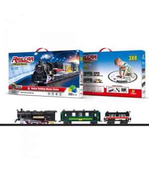 [1608-1А] Залізниця 1:87 з конструктором, світло+звук, працює від батарей