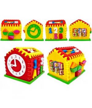 Сортер домик с геометрическими фигурками, KW-50-301