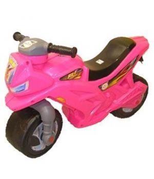 Беговел Мотоцикл 2-х колесный, розовый 501_Р