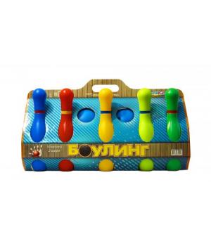 Детская игра кегли, пластиковые, 10 шт 1-002