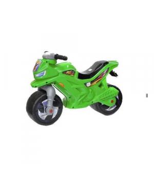Детский мотоцикл толокар зеленый, со звуком, Орион