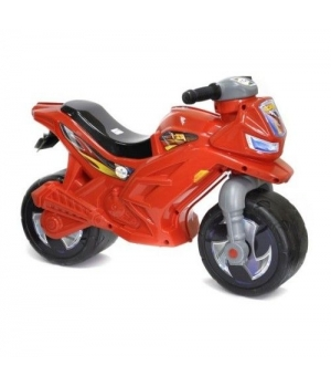 Детский мотоцикл толокар красный, 60 см, Орион