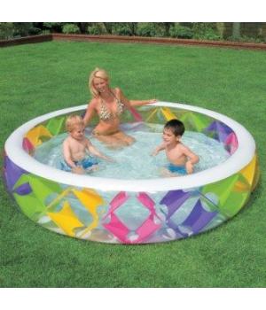 Детский бассейн с надувным дном 229*56см, Intex