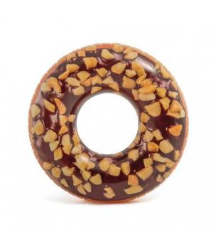 """Детский надувной круг для плавания, """"Шоколадный пончик"""", (114 см), Intex"""