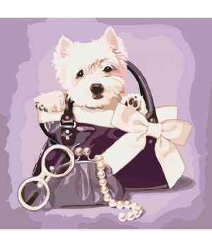 """Картина по номерам """"Любимые щенок"""" КНО4033"""