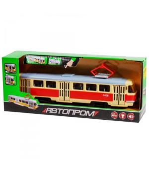 Игрушка трамвай Автопарк, Tatra, со звуком