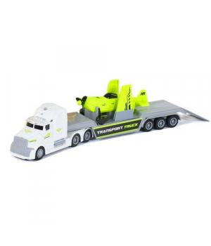 Іграшка Вантажівка (фура-трейлер) зі звуком і світлом (білий) WY781А / В