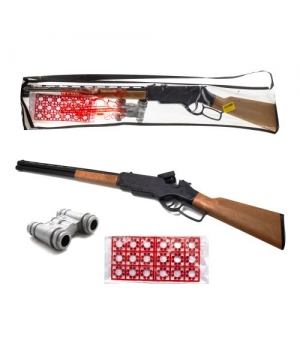 Ружье на пистонах с биноклем и набором пистонов (18 колец)