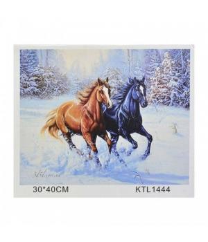"""Картина по номерам """"Лошади"""" KTL1444 40х30 см"""