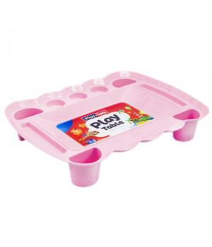 Детский столик для лепки пластилина и песка (розовый) PT 4164