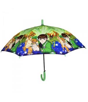 """Детский зонт для мальчика """"BEN 10"""" (сине-зелёный)"""