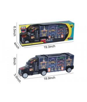 Игрушка грузовик с набором машинок 10*48*15 см. HC220449